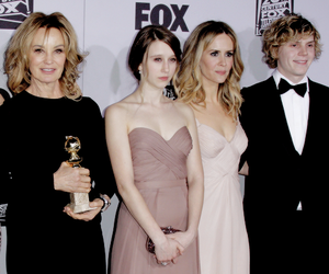 evan peters, american horror story, and jessica lange image