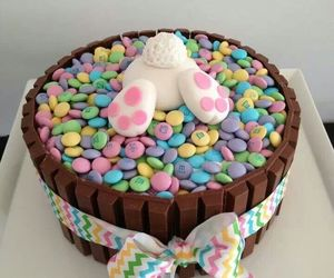 cake, easter, and bunny image