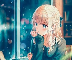 anime girl, drawing girl, and paintings image
