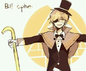 anime, gravity falls, and bill cipher image