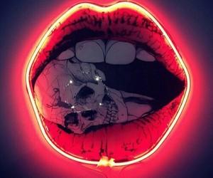 neon, art, and lips image