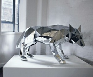 wolf, silver, and art image