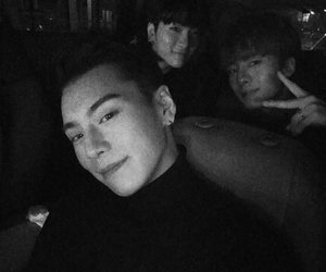 black and white, jbj, and kpop image