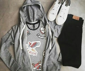 black and white and outfits image