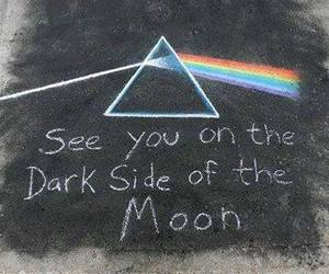 Pink Floyd, dark side of the moon, and moon image