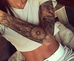 tattoo, dreamcatcher, and ink image