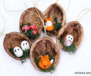 christmas ornaments, etsy, and forest image