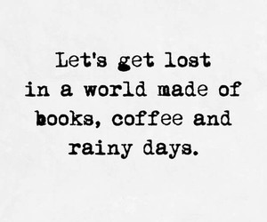 black and white, books, and coffee image