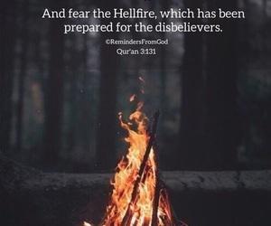 allah, muslim, and hellfire image