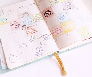 journal, cute, and planner image