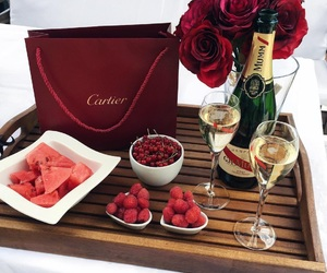 luxury, red, and rose image