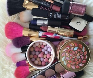 make up, beauty, and Brushes image