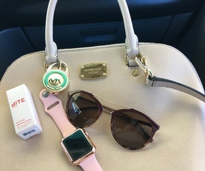 apple, sunglasses, and bags image