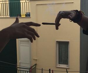 smoke and hands image