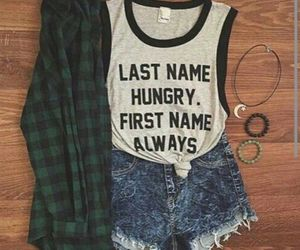 outfit, clothes, and hungry image