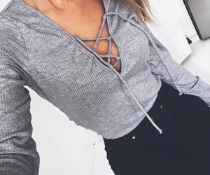 grey and lace up image