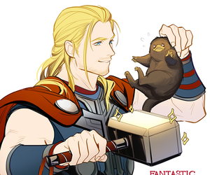 Marvel, thor, and fantastic beasts image