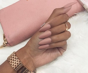 bag, clock, and manicure image