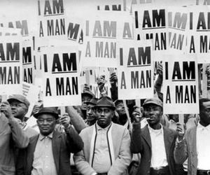 man, protest, and i am a man image