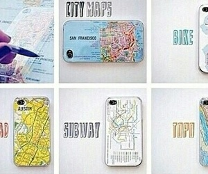 diy, iphone, and map image