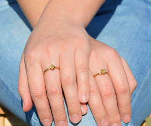etsy, goldring, and gold band image