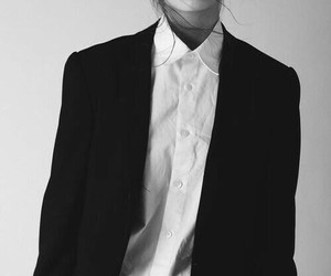 fashion, black and white, and style image