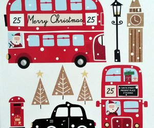 december, double decker bus, and london image