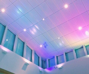 blue, lights, and pink image