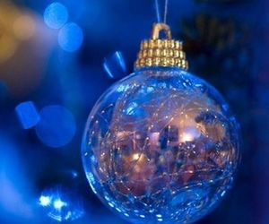christmas, blue, and winter image