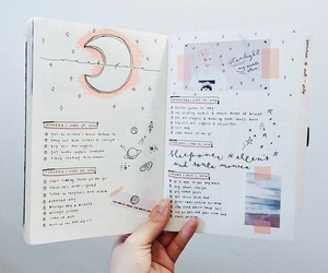 book, journal, and bullet journal image