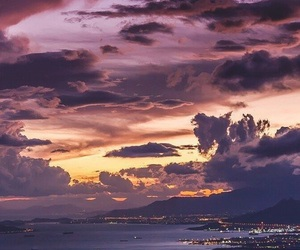 sky, city, and clouds image