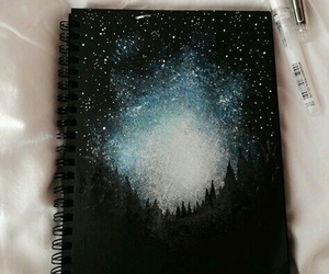 art, stars, and drawing image