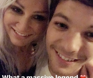 louis tomlinson, lou teasdale, and one direction image