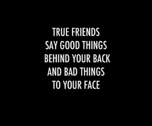 quote, friends, and black image