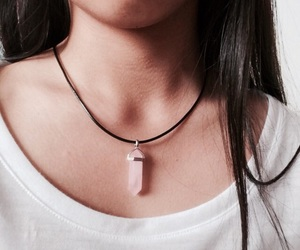 girl, necklace, and tumblr image