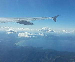 airplane, clouds, and tahoe image