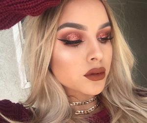 makeup, girl, and fall image