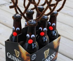 beer, christmas, and reindeer image