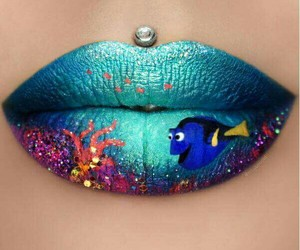 lips, dory, and makeup image