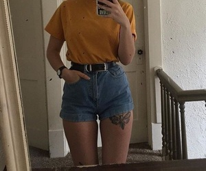 fashion, yellow, and goals image