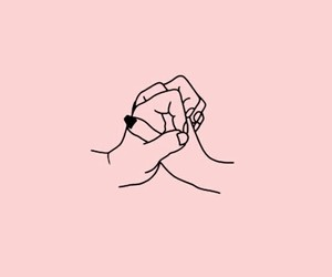 pink, wallpaper, and hands image