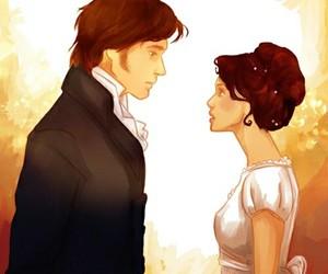 pride and prejudice, mr darcy, and Elizabeth image