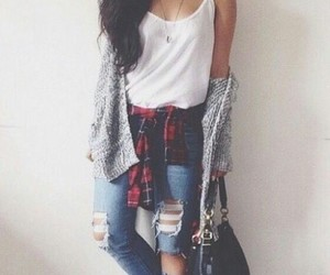 cool, hair, and ripped jeans image