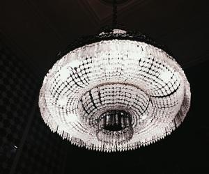 chandelier, chic, and dark image