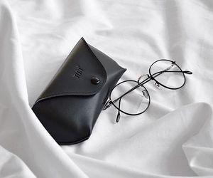 glasses, minimal, and white image