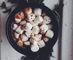 marshmallow, winter, and hot ​chocolate image