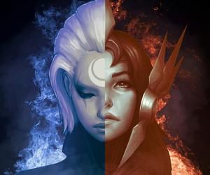 leona, diana, and league of legends image