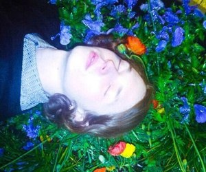 flowers pale grunge image