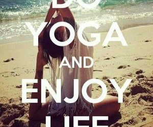 yoga, life, and beach image