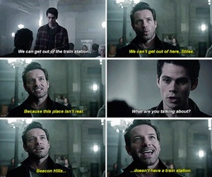 teen wolf, stiles, and peter image